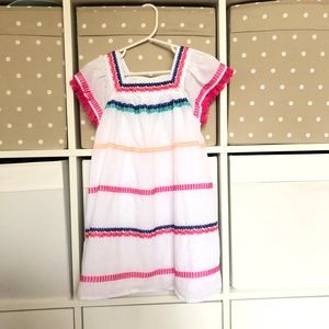 Cat & Jack embroidered fringe girls dress size 5T